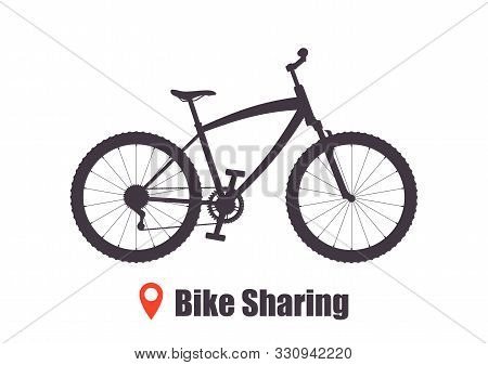 Modern City Or Mountain Bicycle For Bike Sharing Service. Multi-speed Sport Bicycle For Adults. Bike