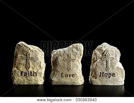 Faith,love And Hope With Room For Yuor Type.