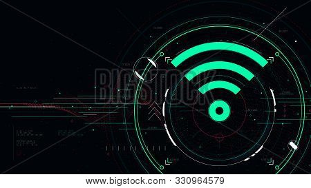 Wireless Future Information Communication Technology Concept  And Networking, Wi-fi Connection Inter