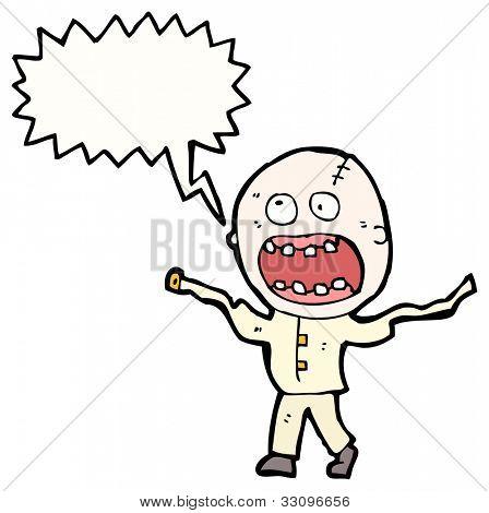 cartoon screaming madman
