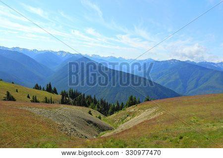 Olympic Mountain Range, Pacific Northwest, Olympic Peninsula, Washington State.