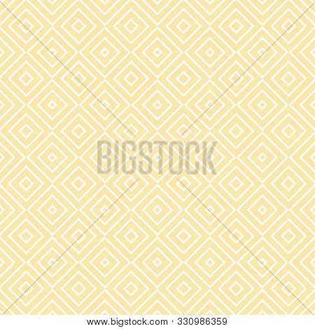 Vector Geometric Seamless Pattern With Squares, Diamonds, Rhombuses, Thin Lines, Grid. Abstract Orna