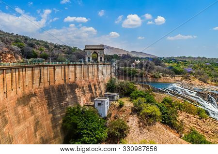 Hartbeespoort Dam Monument On The Flood Dam In North West Province South Africa