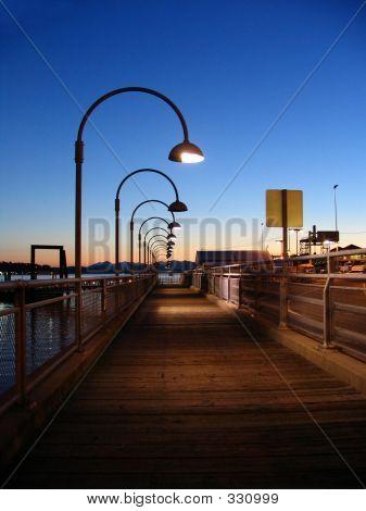Lightposts On Pier