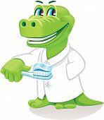 The original character. Vector. Good dental technician. poster