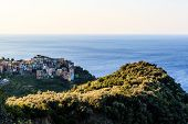 The Medieval Village of Corniglia at Morning Cinque Terre Italy poster
