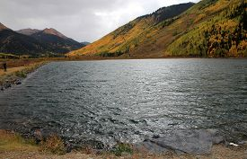 Fall Landscape Of Colorado With Lake, Usa