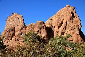 National Park Garden Of Gods In Colorado, Usa