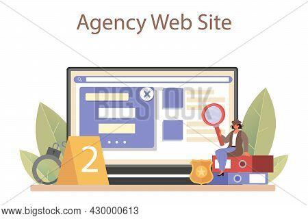 Professional Detective Online Service Or Platform. Agency Investigating
