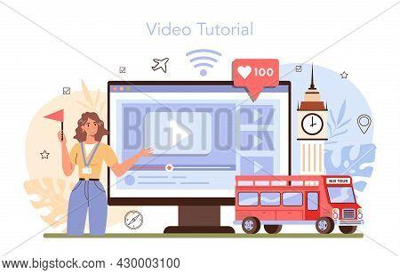 Tour Guide Online Service Or Platform. Tour Entertainment, City Excursion