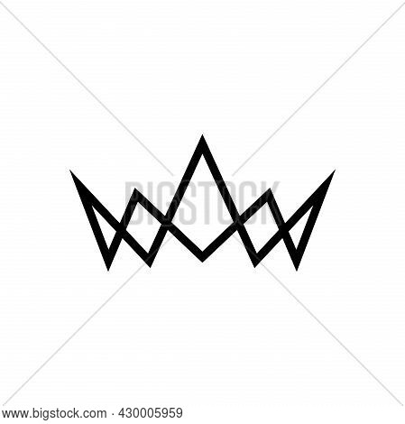 Crown Icon Isolated On White Background. Crown Logo Vector. Crown Icon Simple Sign. Crown Icon Flat