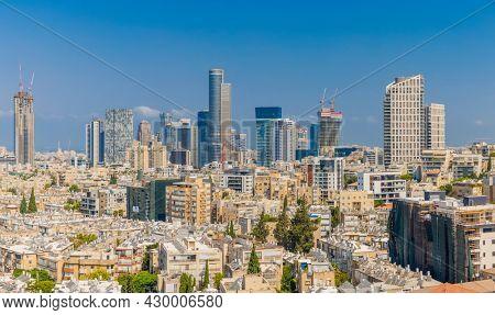 Ramat Gan And Givatayim City Skyline At Day,  Ramat Gan Cityscape, Israel