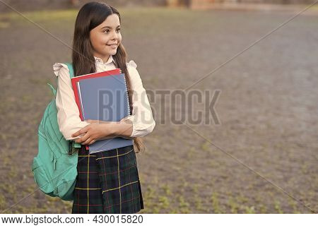 Learn To Love Knowledge. Happy Child Back To School. Knowledge Day. September 1. School And Educatio