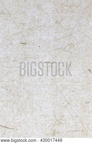 Decorated Plant Fibre Paper Background. Rice Fragrance Decorative Paper Texture. Portrait Vertical O