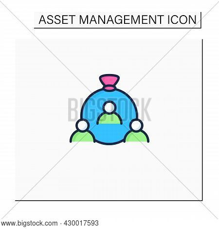 Human Capital Color Icon. Habits, Knowledge, Social And Personality Attributes. Special Features Hel