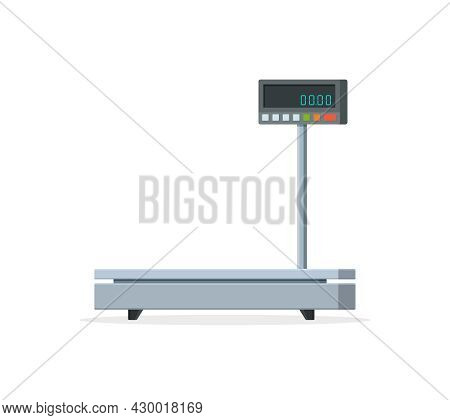 Scale Weight. Scale Balance For Parcel And Package. Industrial Electronic Machine With Digital Scale