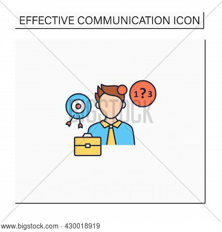Ineffective Communication Color Icon. Lack Of Focus. Inability To Concentrate. Communication Barrier