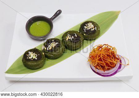 Hara Bhara Kababs Or Kebab, Healthy Vegan And Vegetarian Indian Snack Made With Potatoes, Spinach, G