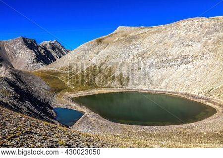 Image Of Lac Des Garrets (262 M) Located In The Southern French Alps In Mercantour National Park.