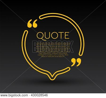 Quote Speech Bubble, Text In Brackets, Circle Frame