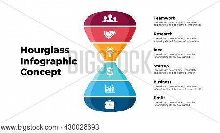 Vector Hourglass Hourglassinfographic. Presentation Slide Template. Creative Time Concept. From Team