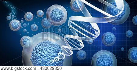Regenerative Medicine And Therapeutic Stem Cell Therapy To Regrow Damaged Cells As Treatment For Dis