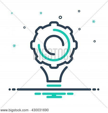 Mix Icon For Implement Appliance Utensil Contraption Solution Cogwheel Idea Conceptualize Concept