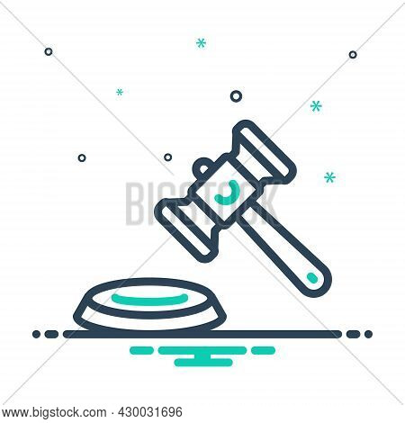 Mix Icon For Lawsuit Legal-action Proceedings Litigation Hammer Judgement Authority
