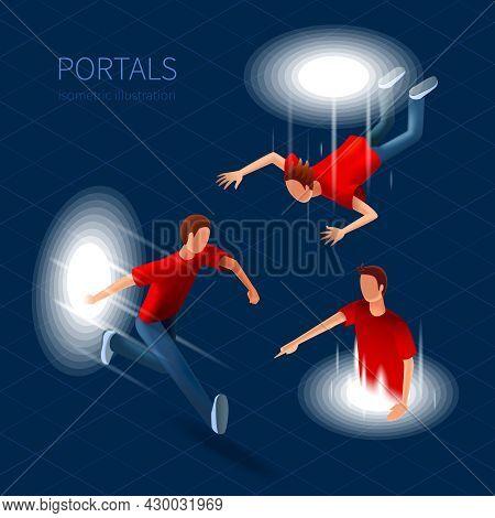 Way Out Portals Icons Set. Way Out Portals Vector Illustration.portals Decorative Set. Portals  Desi