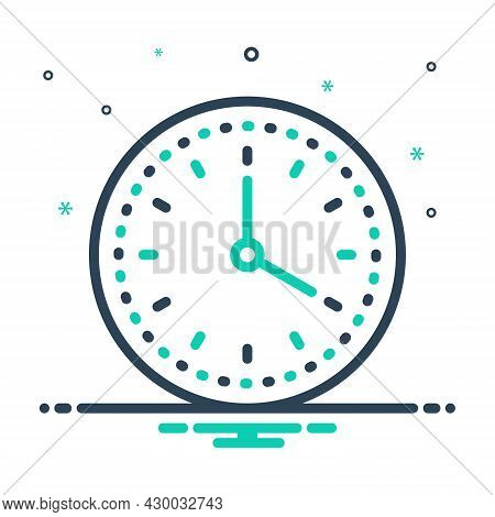 Mix Icon For Clock Time-keeper Countdown Watch Timer Timepiece Wristwatch Horologe Stopwatch Analog