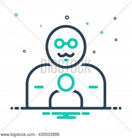 Mix Icon For Father Pop Origin Progenitor Ancestor Dad Daddy Pater Dada Gentleman Parental Person Hu