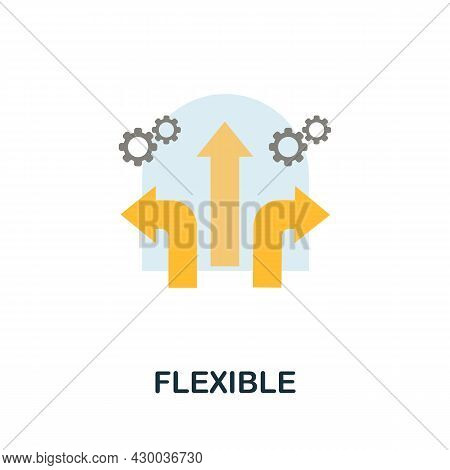 Flexible Icon. Flat Sign Element From Data Analytics Collection. Creative Flexible Icon For Web Desi