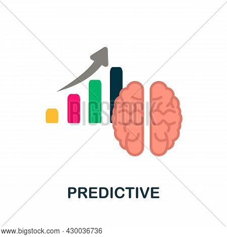 Predictive Icon. Flat Sign Element From Data Analytics Collection. Creative Predictive Icon For Web