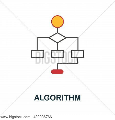 Algorithm Icon. Flat Sign Element From Data Analytics Collection. Creative Algorithm Icon For Web De