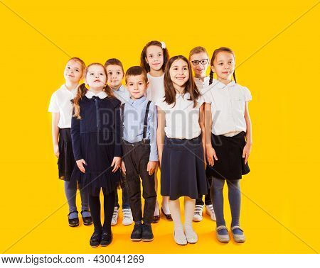 Schoolkids Are Ready Going To School. Back To School Concept