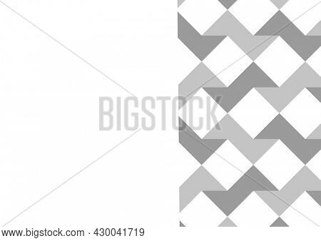 Composition of gray and white shapes on white background. abstract background concept digitally generated image.