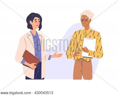 Mistrust And Distrust In Business Concept. Businesswoman Hesitating And Doubting About Partners Offe