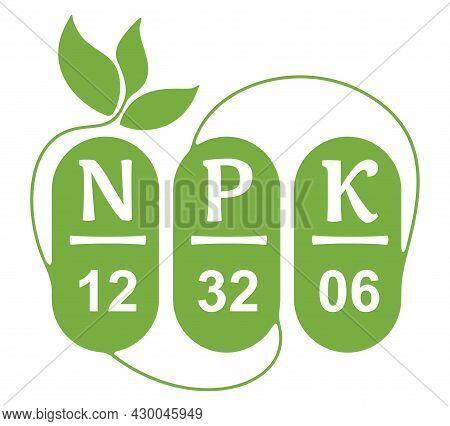 N, P, K Composition Decorative Label - Concentration Of Nitrogen, Phosporous And Potassium In Garden