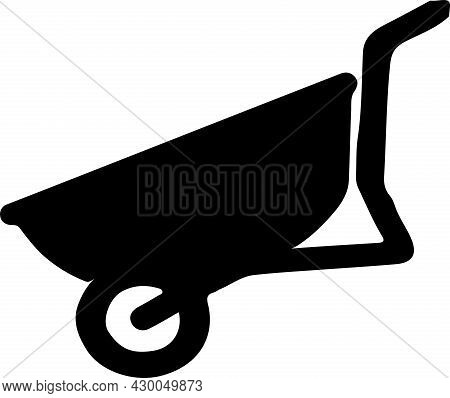 Cement Cart Icon Isolated On White Background