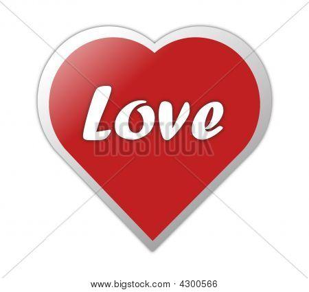 Heart Symbol With Love Written On It