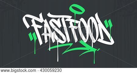 Flat Abstract Hip Hop Hand Written Urban Street Art Graffiti Style