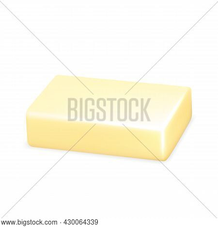 Soap Natural Hygiene Product For Wash Hand Vector. Skincare Anti-bacterial Blank Soap For Clean Face