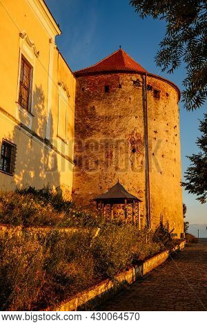 Mikulov, South Moravian Region, Czech Republic, 05 July 2021: Baroque Castle Or Chateau With Old Sto