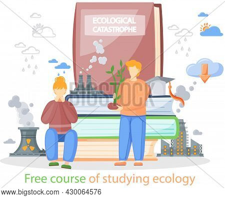 Free Course Of Studying Ecology. Webinar, Online Education, Training Group Conversation Via Internet