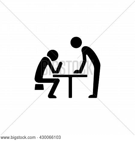 Body Language Black Glyph Icon. Nonverbal Communication. Physical Behavior. Wordless Signals. Commun