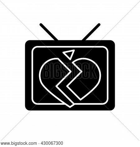 Soap Opera Black Glyph Icon. Tv Drama Series. Sentival Film With Love Plot. Romantic Serial. Melodra