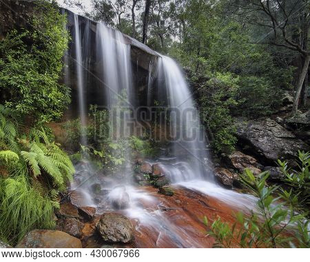 Waterfall In Brisbane Water National Park Near Pearly Ponds