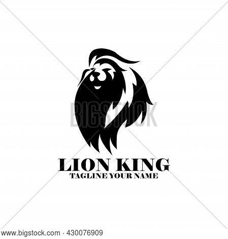 Lion King Design Logo Template. Lion King Animal Logo Vector