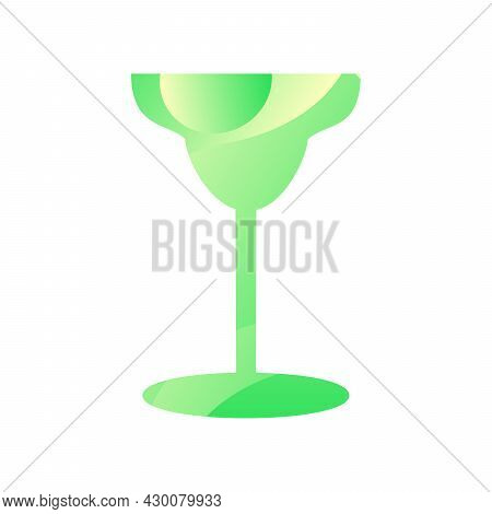 Margarita Glass For Drinking Alcohol Icon Vector