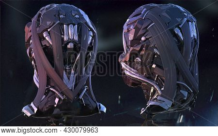 3d Rendered Digital Generated Mix Media Concept Design Of Back View Sci Fi Futuristic Science Fictio